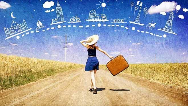 девушка мечтает о путешествиях