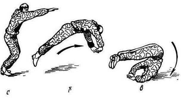 кувырок с прыжком