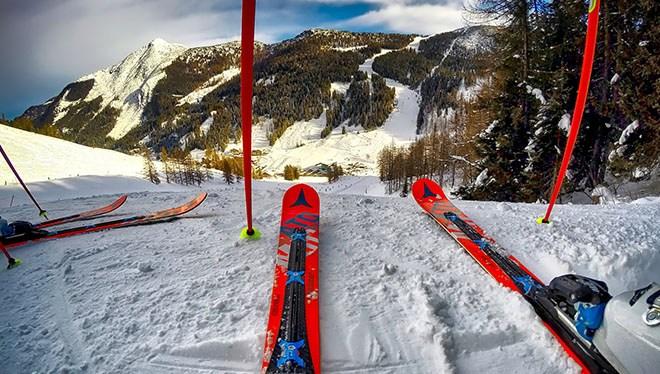от первого лица лыжи