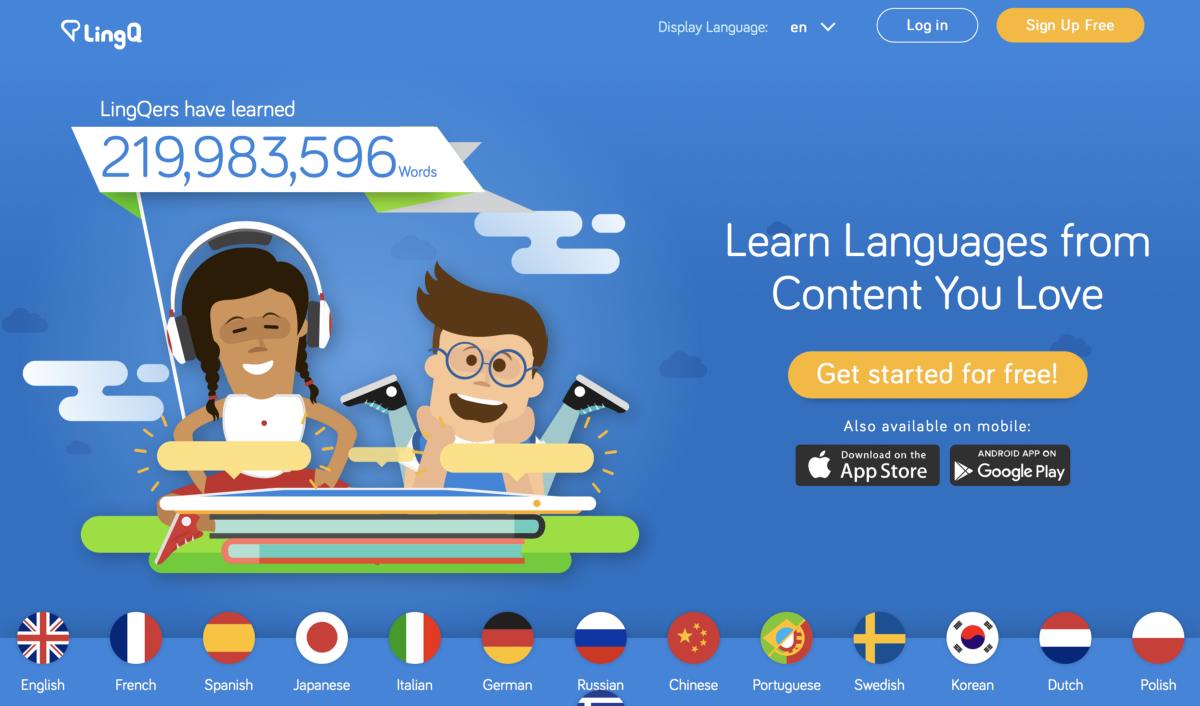 Интернет-сервис для изучения языка