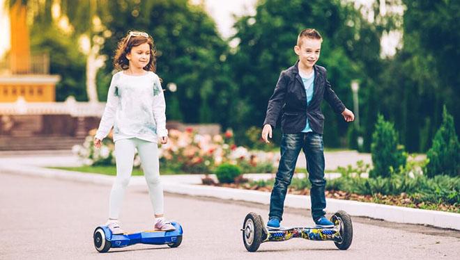 дети на гироскутере