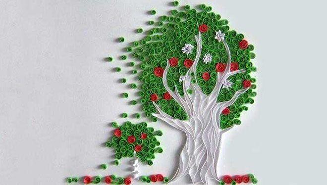 дерево квиллинг