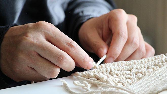 вязание макраме
