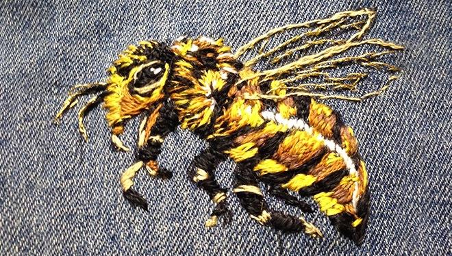 пчелка вышивка