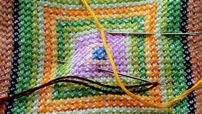 пример вышивания крестиком