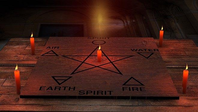свечи звезда стихии природы