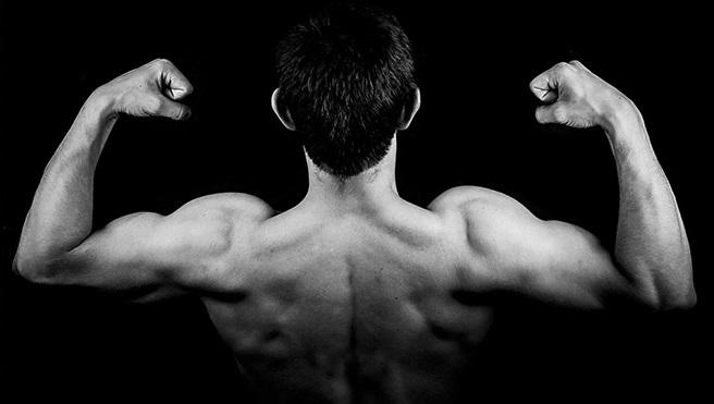 накаченные мышцы рук мужчина